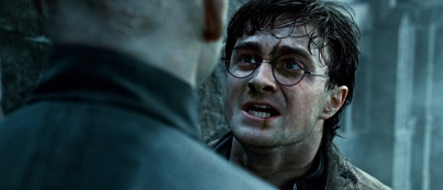 """(L-r) RALPH FIENNES as Lord Voldemort and DANIEL RADCLIFFE as Harry Potter in Warner Bros. Pictures' fantasy adventure """"HARRY POTTER AND THE DEATHLY HALLOWS – PART 2,"""" a Warner Bros. Pictures release."""